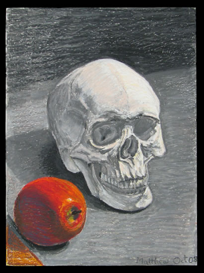 Skull with Apple