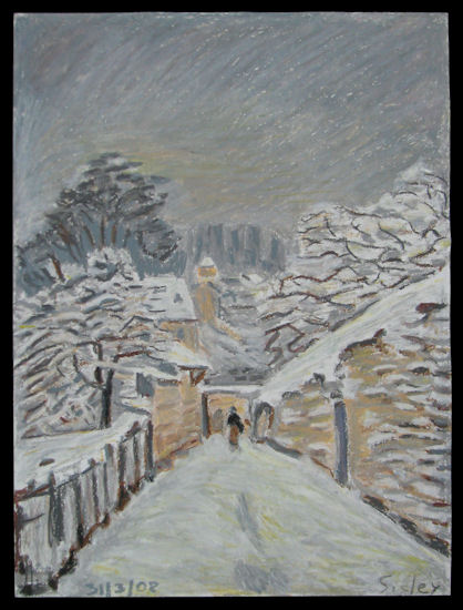 Snow After Sisley Painting
