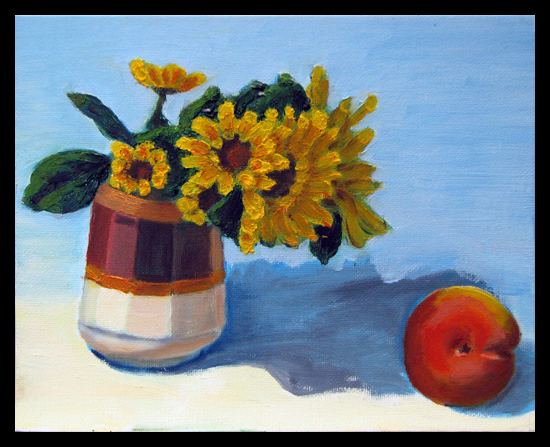 Sunflowers with Apple