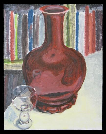 Vase with Wine Glass