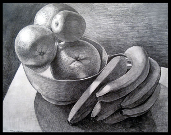 Fruit Bowl with Bananas